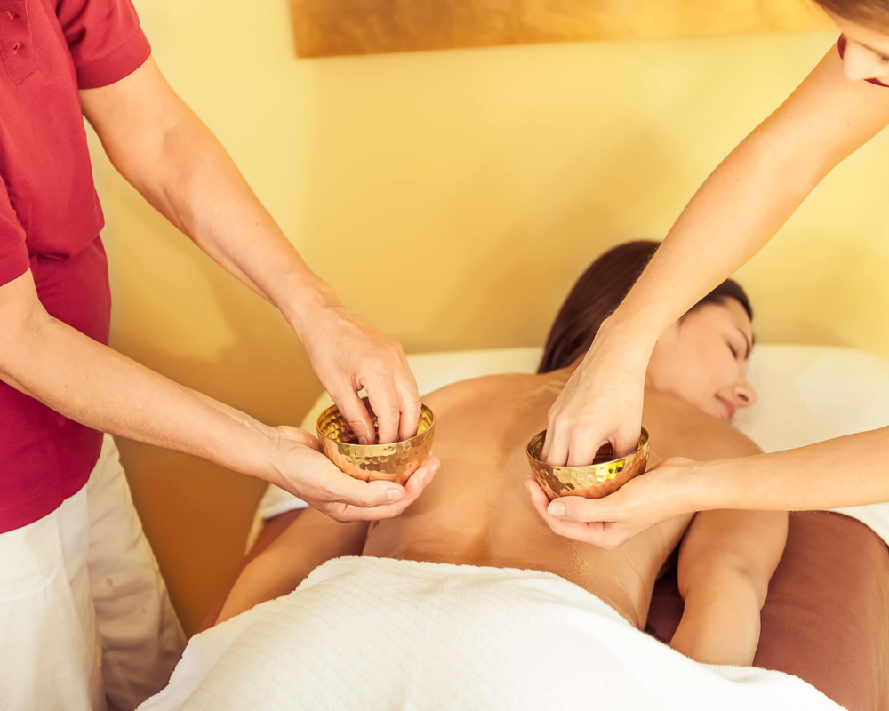 Ölbehandlung Massage